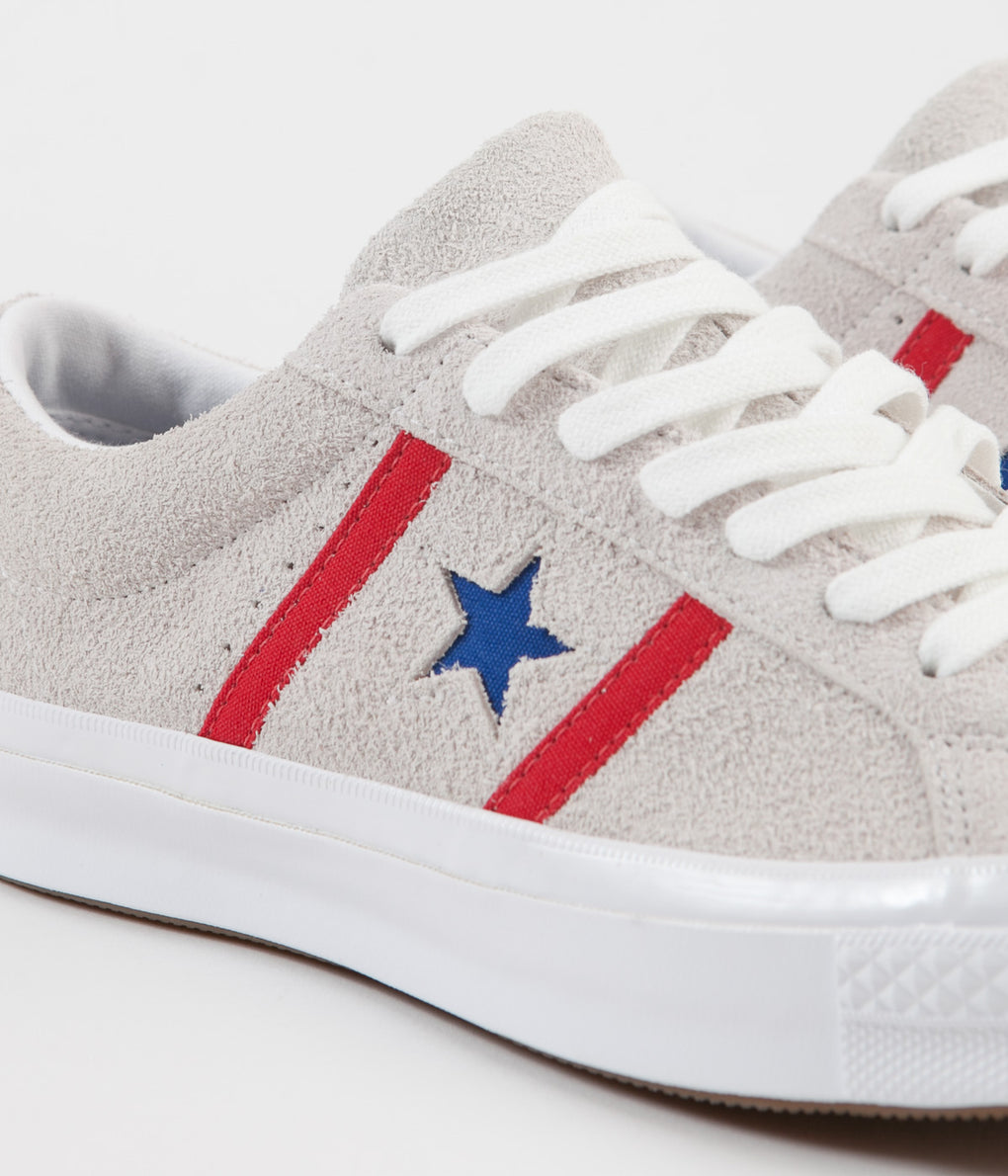 Converse One Star Academy Ox Shoes - White / Enamel Red