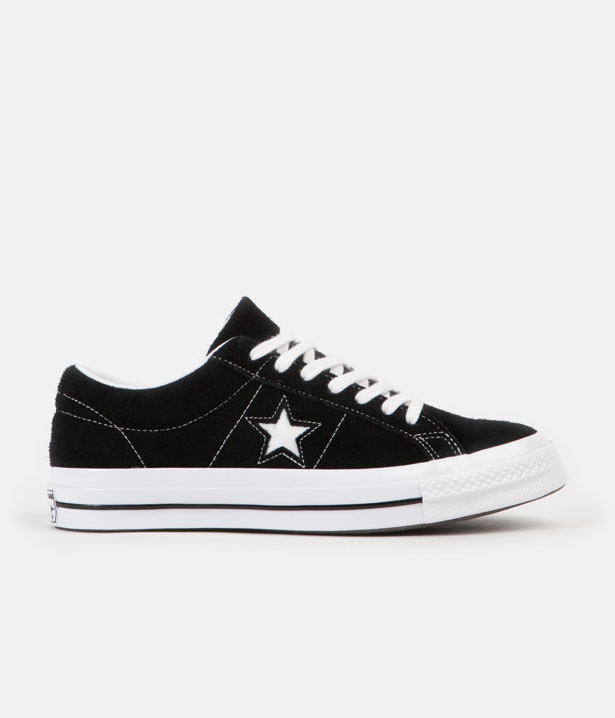 0204c4d93856 ... Converse One Star Ox Shoes - Black   White   White ...