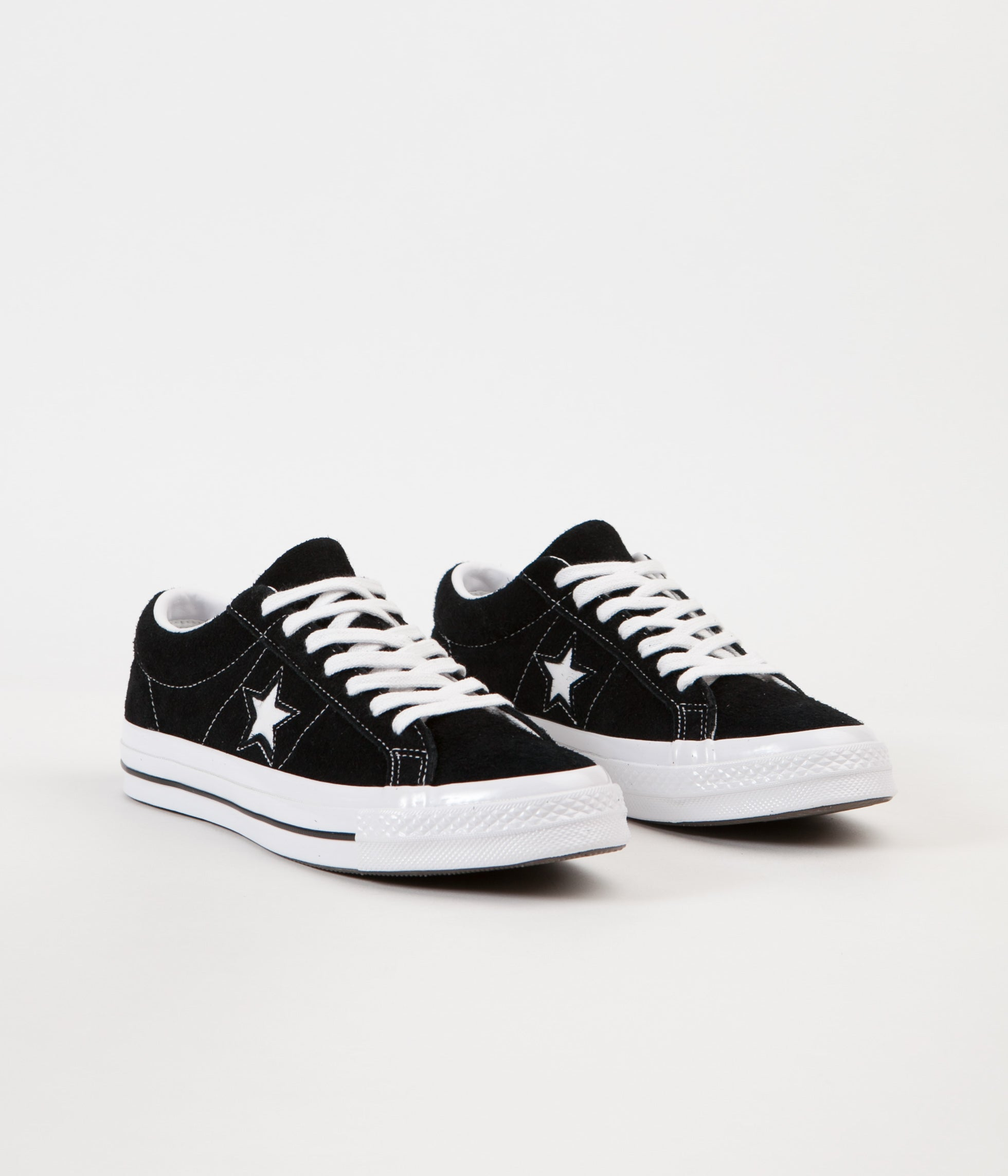 6ab59befaf0b0f ... Converse One Star Ox Shoes - Black   White   White ...