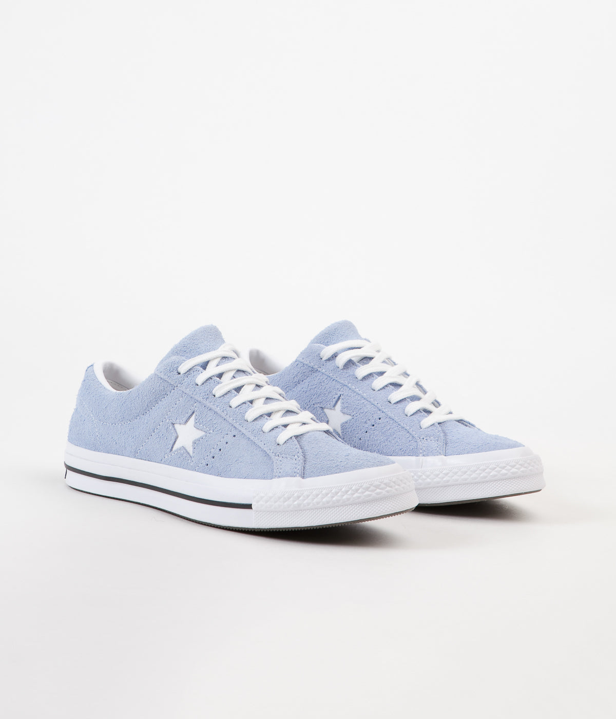 Converse One Star Ox Shoes Blue Chill White Black