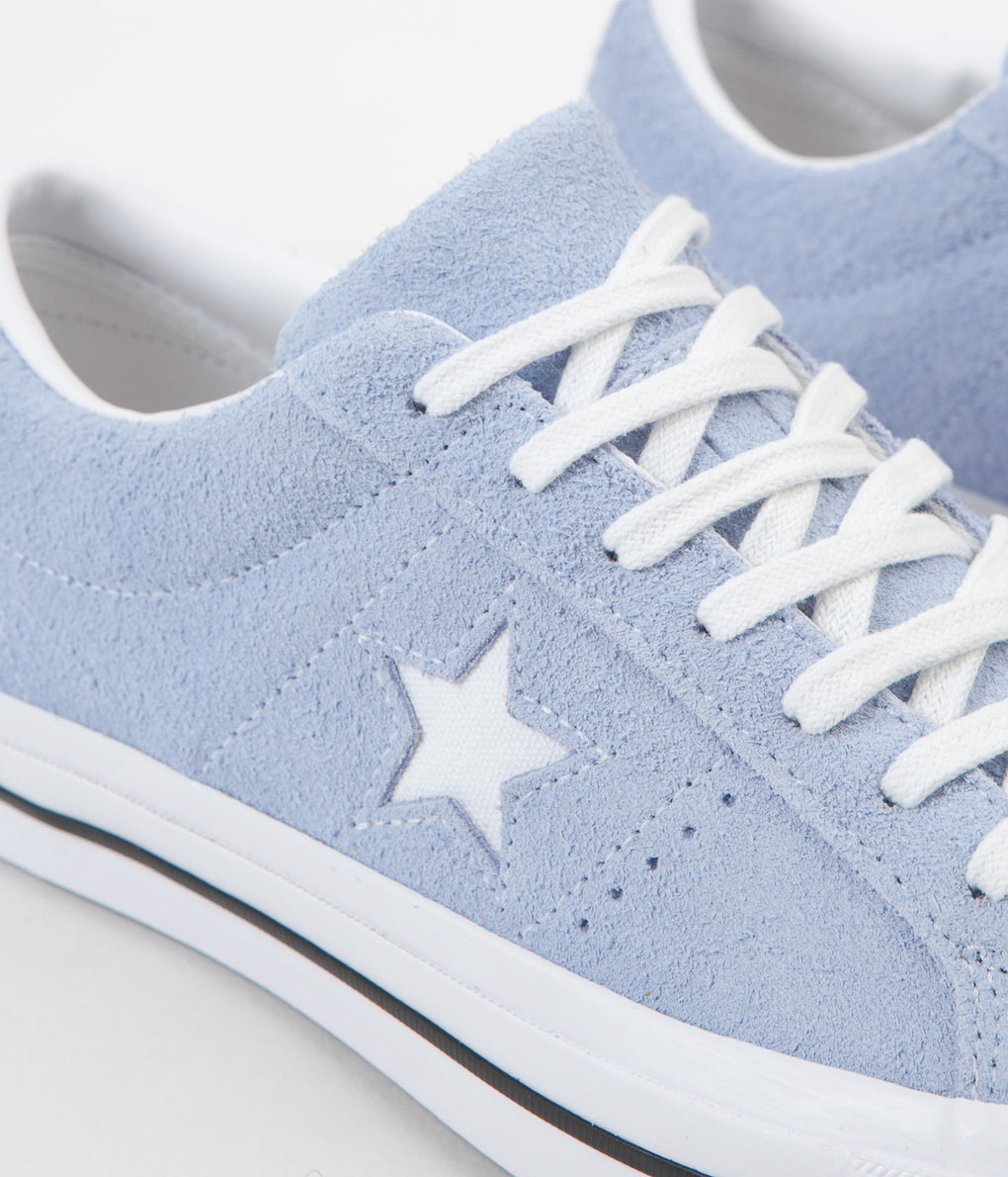Converse One Star Ox Shoes - Blue Chill / White / Black