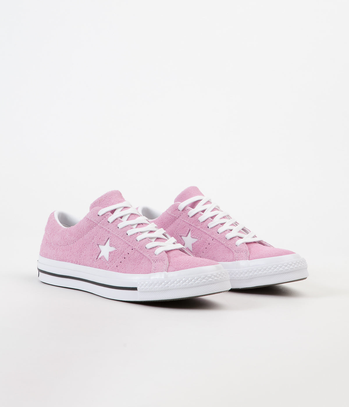 24c72dcee9eb48 ... Converse One Star Ox Shoes - Light Orchid   White   Black ...