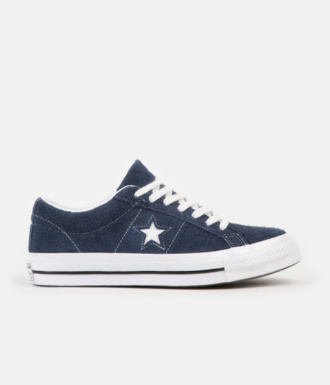 Converse One Star Ox Shoes - Navy / White / White