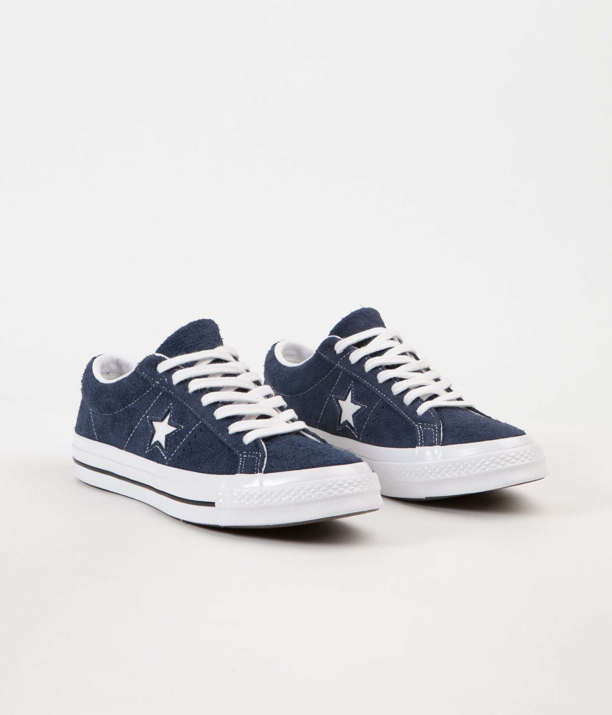 76214a207ad6 ... Converse One Star Ox Shoes - Navy   White   White ...