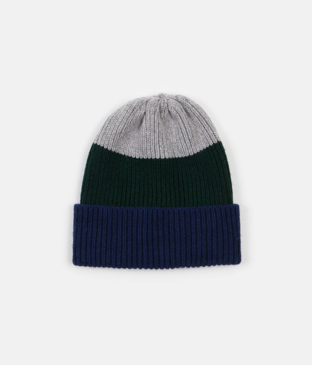 Country Of Origin Watch Hat - Grey / Green / Navy