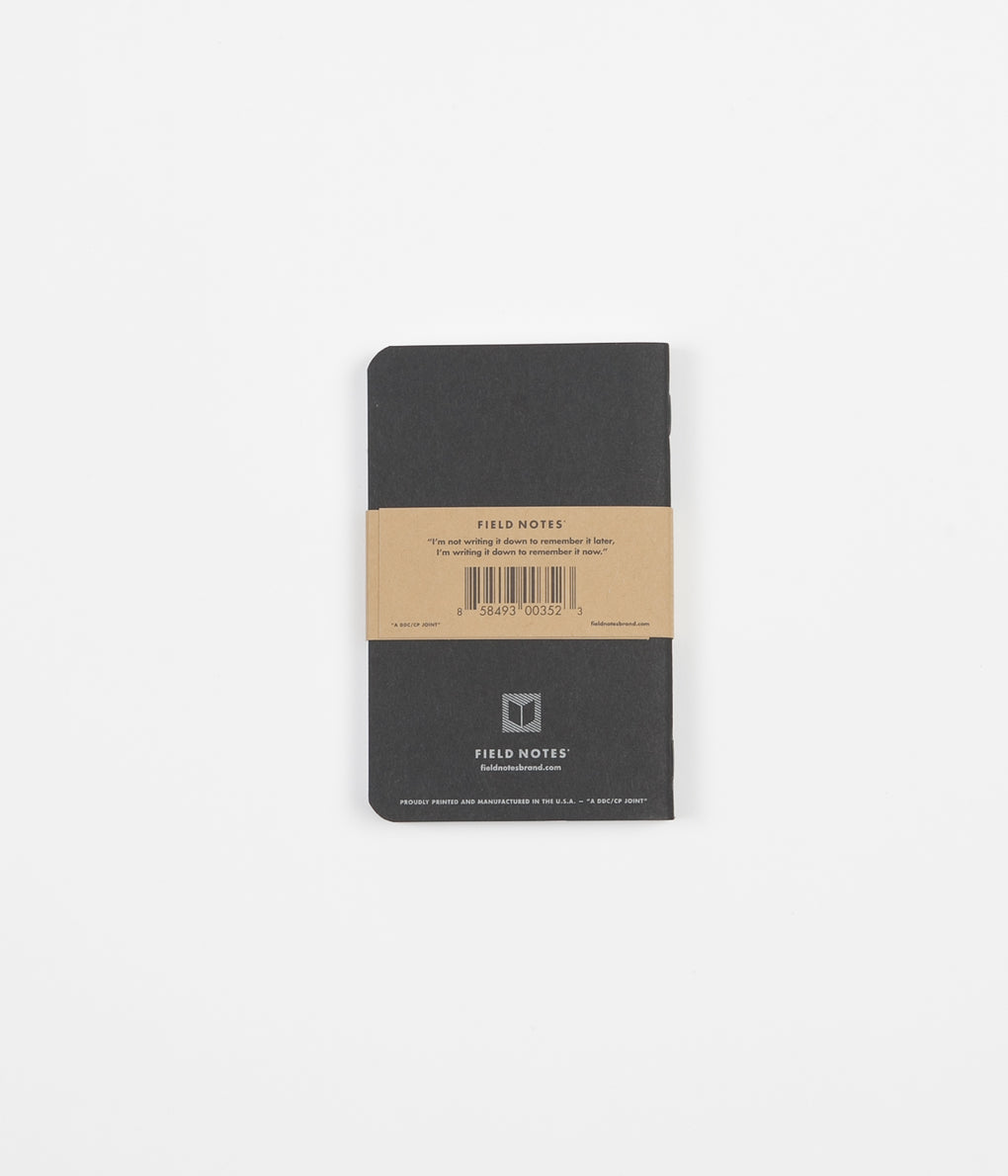 Field Notes Dot Graph Paper Notebooks - Pitch Black -  Small