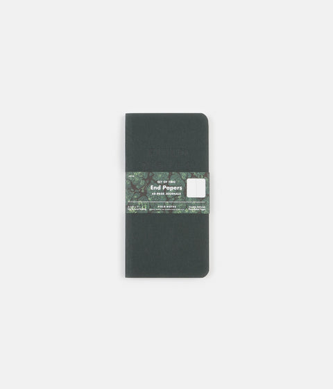 Field Notes End Papers Memo Books - Green / Blue
