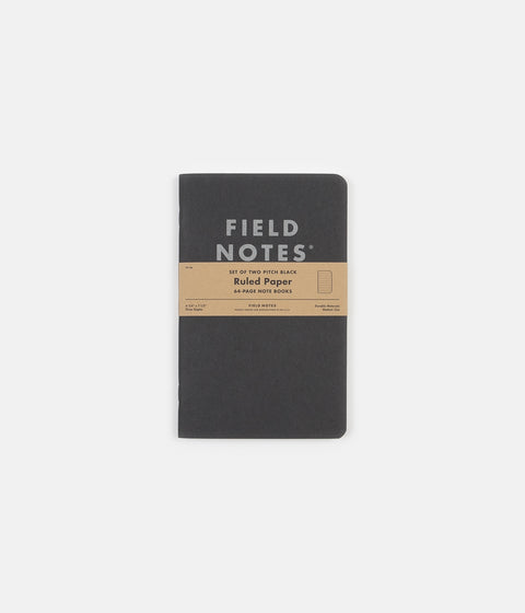 Field Notes Ruled Notebooks - Pitch Black - Large