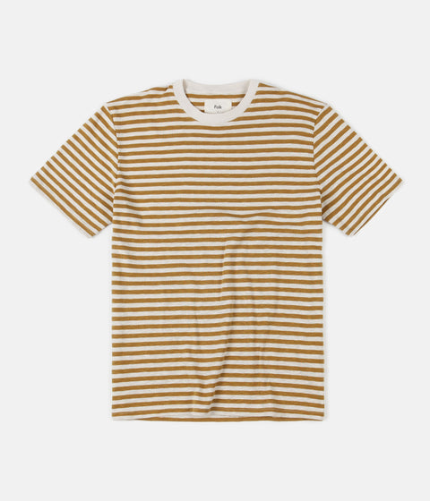 Folk Classic Stripe T-Shirt - Golden Yellow