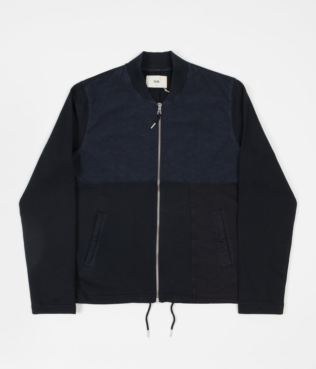 58bd2f91c Folk Combination Bomber Jacket - Navy | Always in Colour