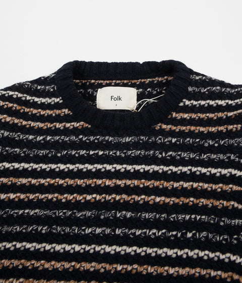 Folk Cryptic Crewneck Sweatshirt - Deep Navy