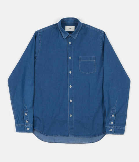 Folk Degree Shirt - Bleached Denim