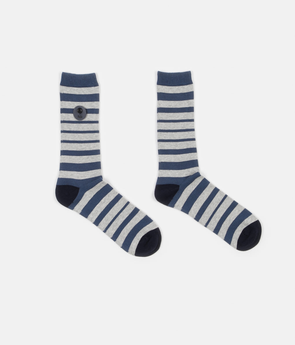 Folk Fade Socks - Denim Blue Stripe