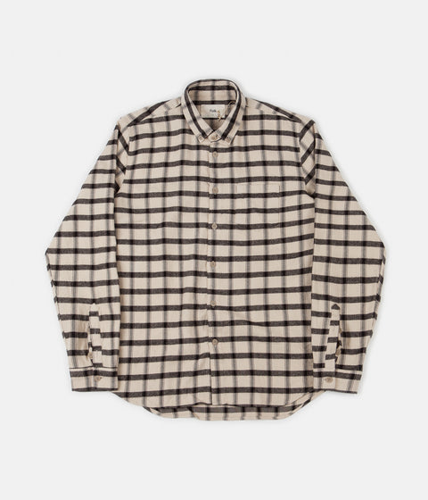 Folk Relaxed Fit Shirt - Ecru / Black Windowpane