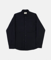 Folk Stitch Pocket Shirt - Navy