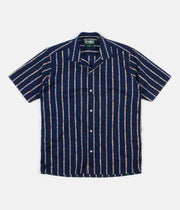 Gitman Vintage Camp Short Sleeve Shirt - Maritime Messaging Navy