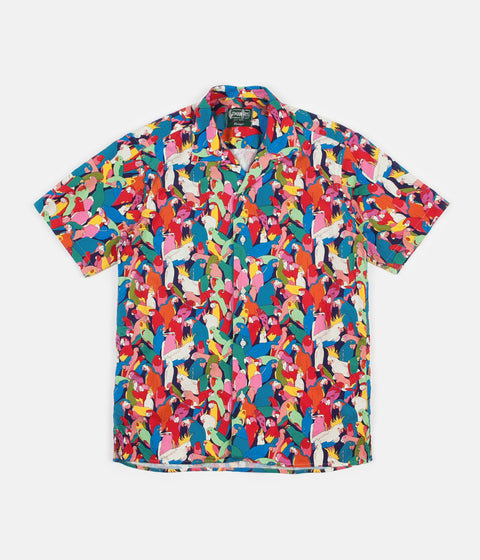 Gitman Vintage Camp Short Sleeve Shirt - Parrot Party