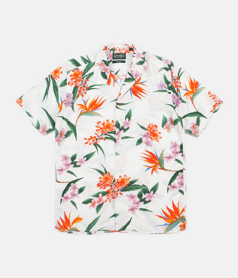 Gitman Vintage Camp Short Sleeve Shirt - White Aloha