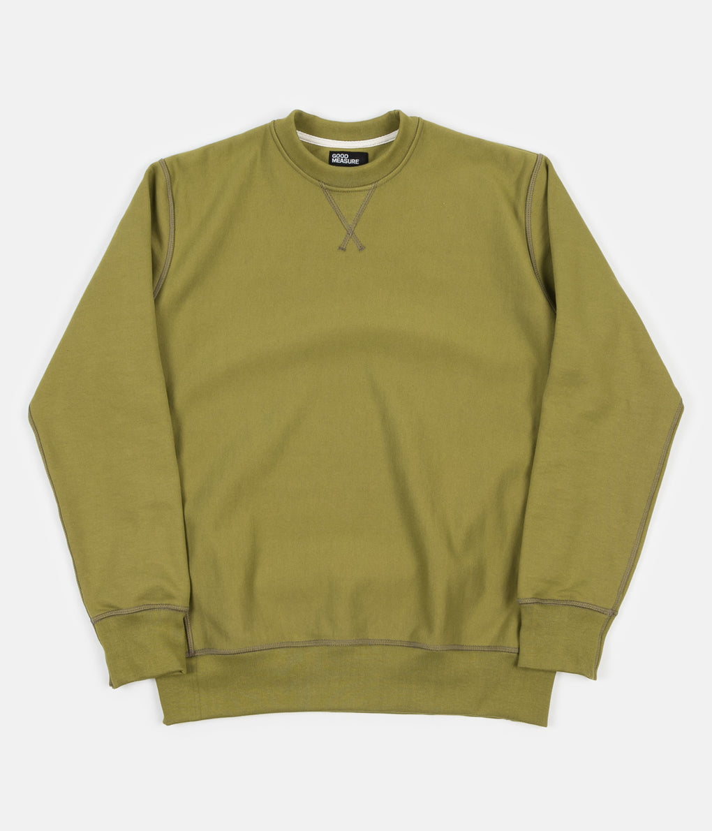 Good Measure M-21 'Lonely Hearts' John Crewneck Sweatshirt - Olive