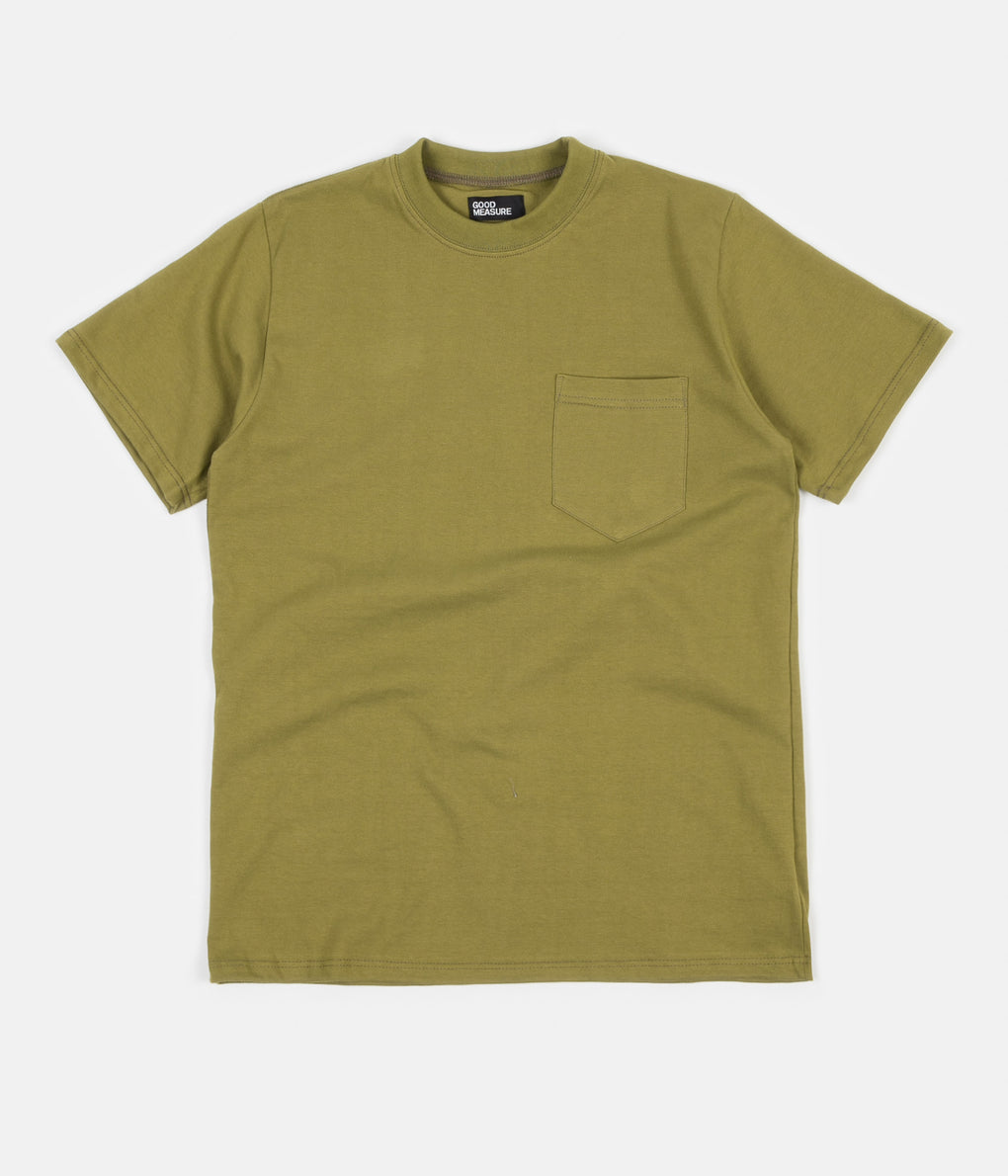 Good Measure M-4 'Lonely Hearts' John Pocket T-Shirt - Olive