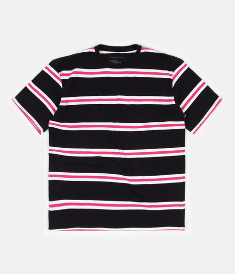 Good Measure M-4 Surf Stripe T-Shirt - Black / Pink