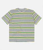 Good Measure M-4 Surf Stripe T-Shirt - Grey / Yellow