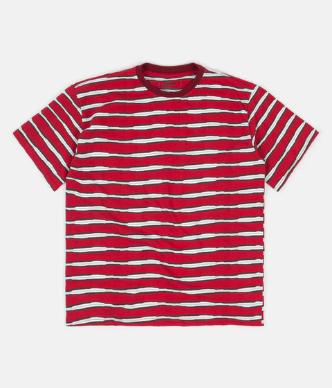 Good Measure M-4 Surf Stripe T-Shirt - Red / Black