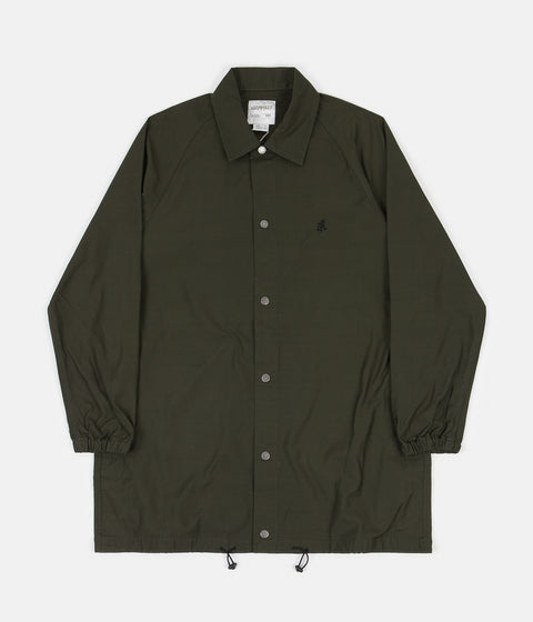 Gramicci Back Satin Coaches Jacket - Deep Olive