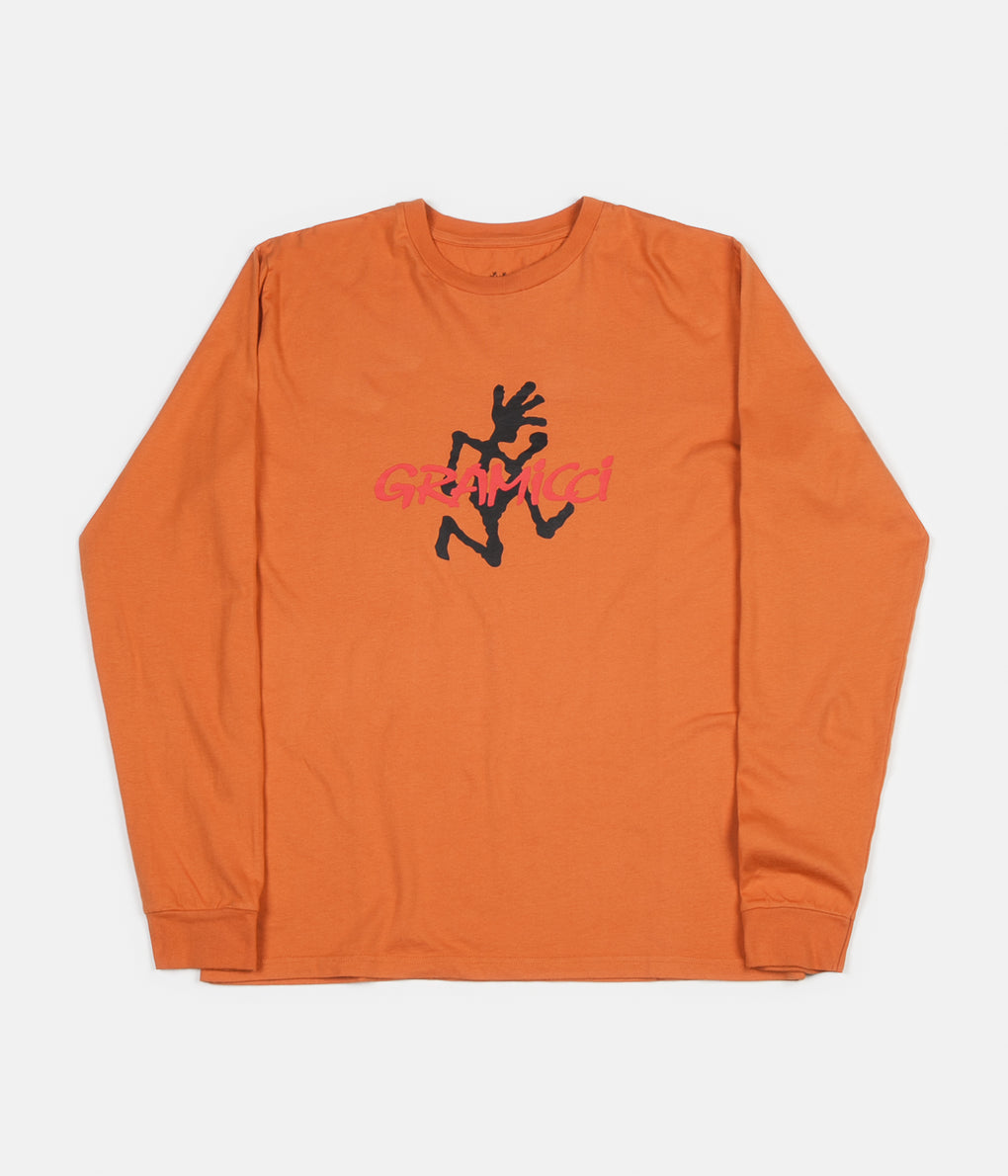 Gramicci Japan Logo Long Sleeve T-Shirt - Maple