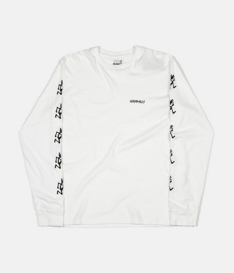 Gramicci Japan Sleeve Print Long Sleeve T-Shirt - White
