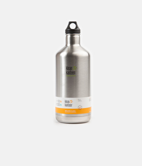 Klean Kanteen Classic 1900ml Insulated Flask - Brushed Stainless