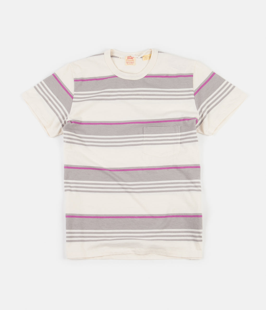 Levi's® Vintage Clothing 1960's Casuals Stripe T-Shirt - Grey