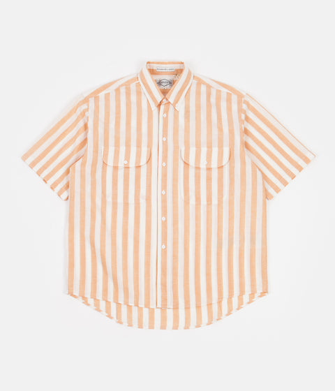 Levi's® Vintage Clothing Diamond Short Sleeve Shirt - Melon Orange / White