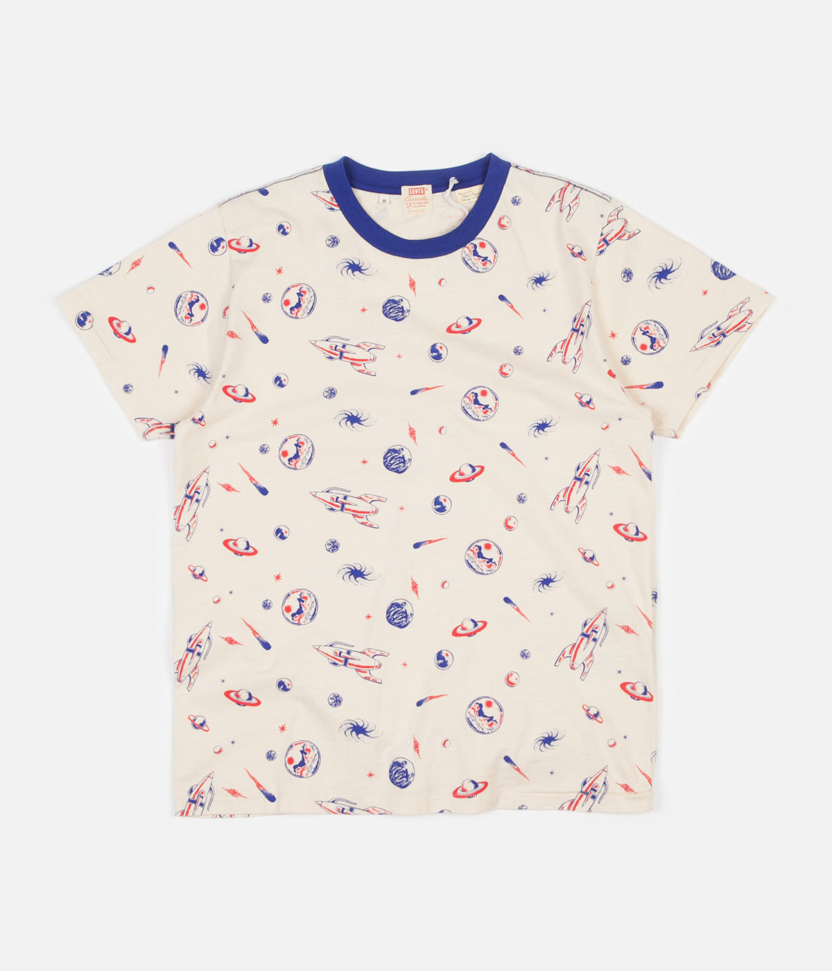 1ee2c39a0551 ... Levi's® Vintage Clothing Graphic T-Shirt - Spaced All Over / Creme  Brulee ...