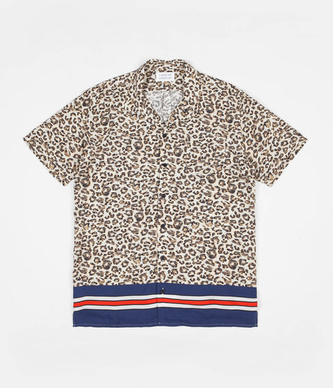 Libertine-Libertine Cave Short Sleeve Shirt - Leo Stripe