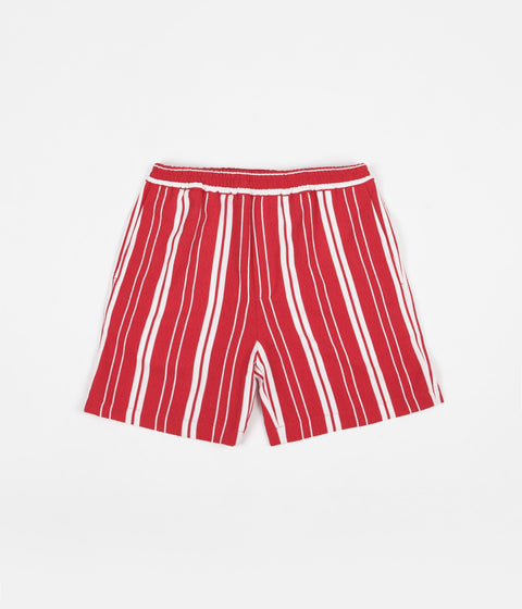 Libertine-Libertine Front Shorts - Off White / Red Stripe