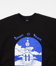 Lo-Fi Dream Peace Crewneck Sweatshirt - Black