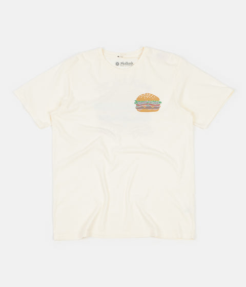 Mollusk Cheeseburger T-Shirt - Antique White