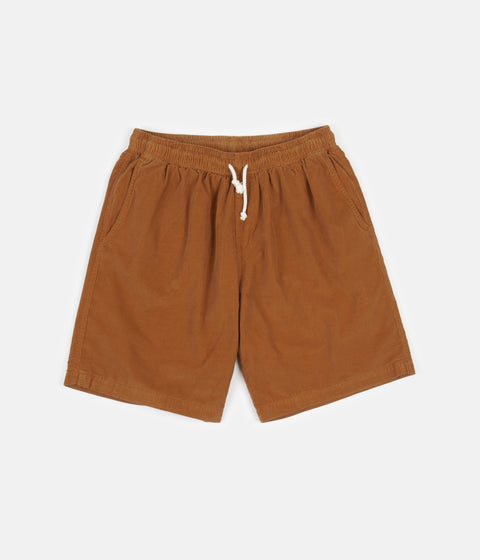 Mollusk Corduroy Shorts - Orange Earth