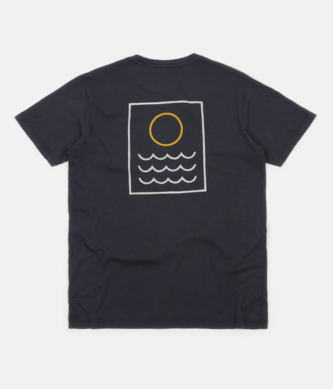 Mollusk Harvest Moon T-Shirt - Faded Navy