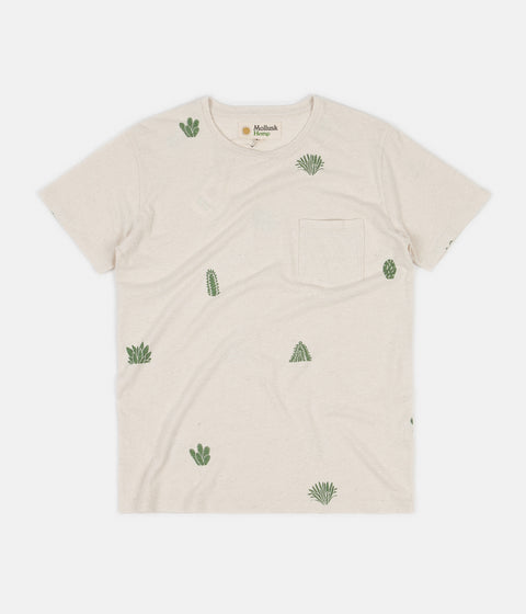 Mollusk Hemp Cactus Garden T-Shirt - Natural