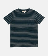 Image for Mollusk Hemp Stripe T-Shirt - Indigo / Natural Stripe