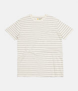 Image for Mollusk Hemp Stripe T-Shirt - Natural / Indigo Stripe