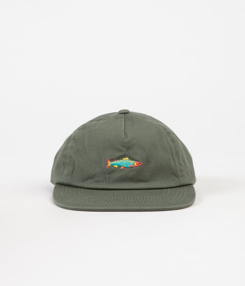 Mollusk Hot Salmon Polo Cap - Mash Green
