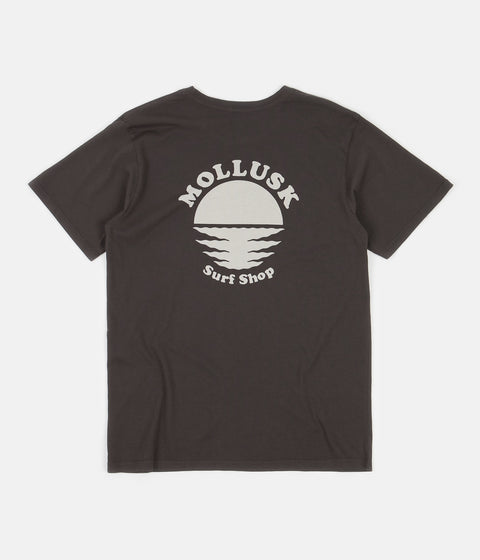 Mollusk Night Moves T-Shirt - Faded Black