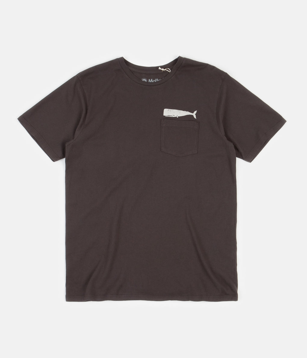 Mollusk Olde Whale T-Shirt - Faded Black