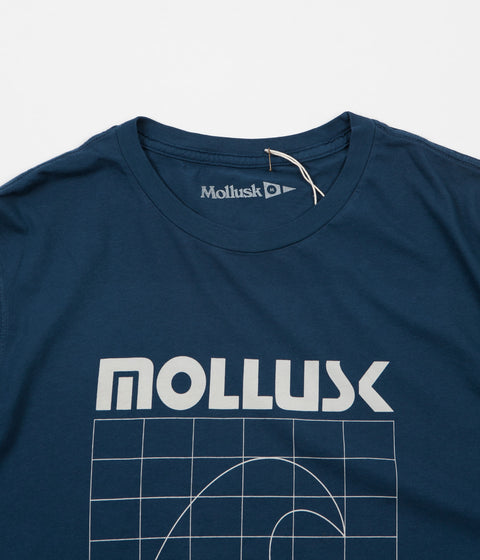 Mollusk Seacraft Long Sleeve T-Shirt - Navy Indigo