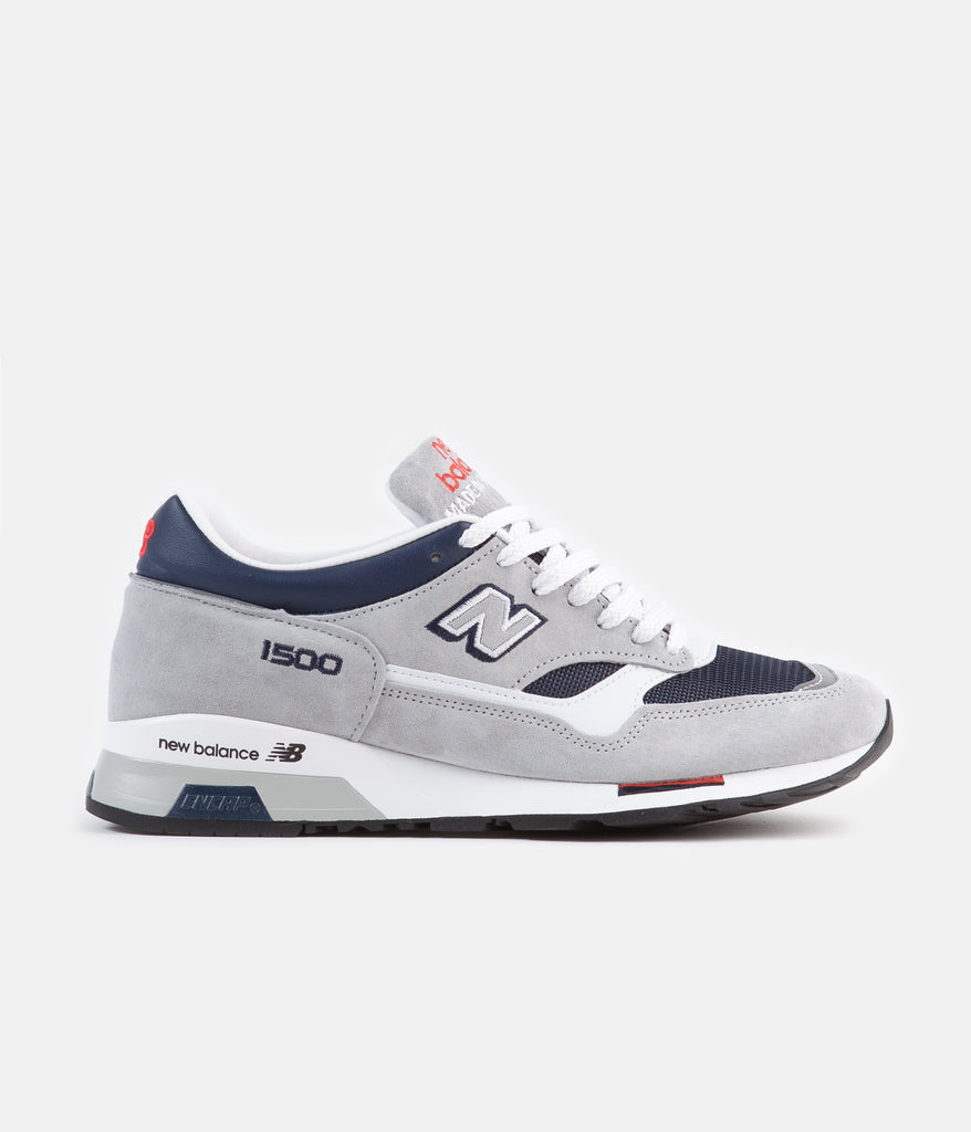 sports shoes baa07 6d335 New Balance 1500 Made in UK Shoes - Grey / Navy / Red