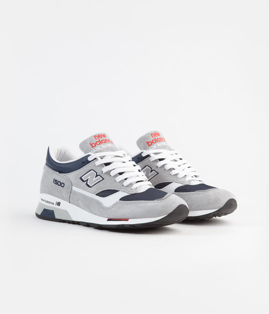sports shoes 8195c 94fda New Balance 1500 Made in UK Shoes - Grey / Navy / Red