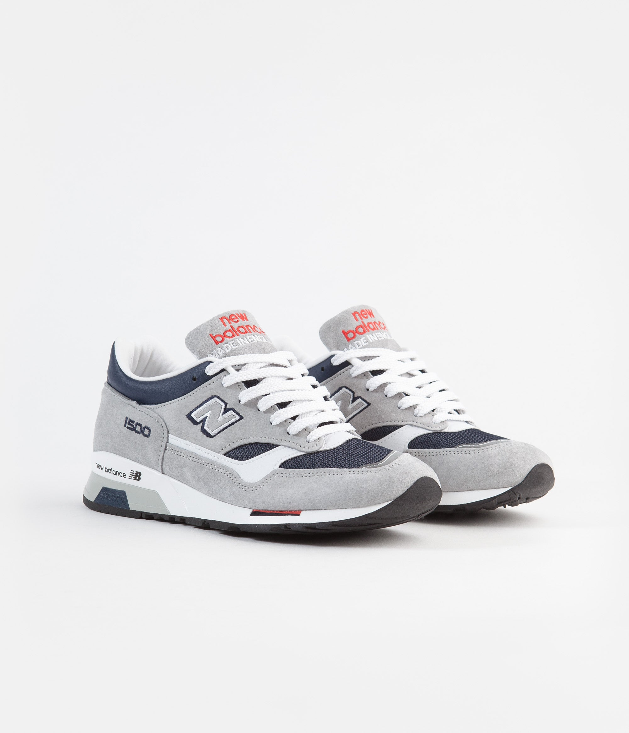 buy popular 5b23a acb7f New Balance 1500 Made in UK Shoes - Grey / Navy / Red ...
